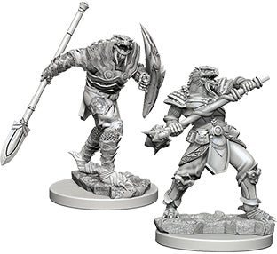 Dungeons & Dragons Nolzur's Marvelous Unpainted Miniatures: Dragonborn Male Fighter with Spear