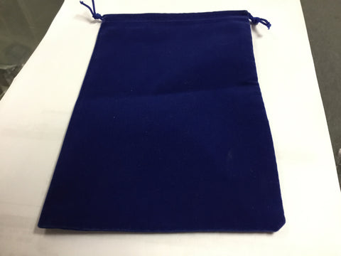 Blue Velour Dice Pouch (large) - Boardlandia