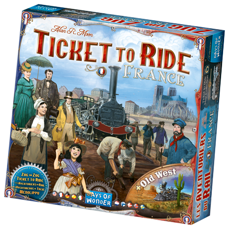 Ticket To Ride: Map Collection V6 - France and Old West (Pre-Order) - Boardlandia