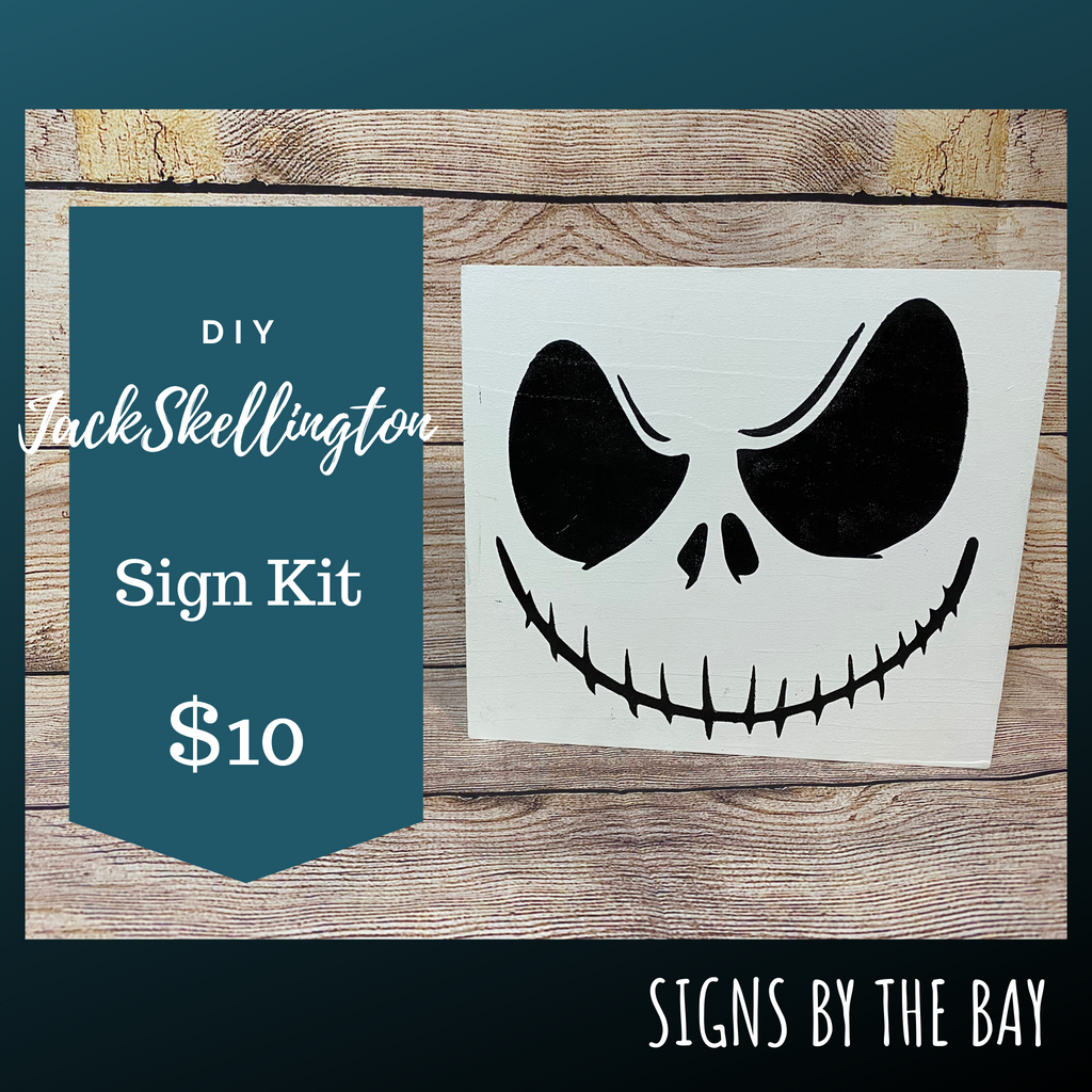 DIY Jack Skellington Sign Kit