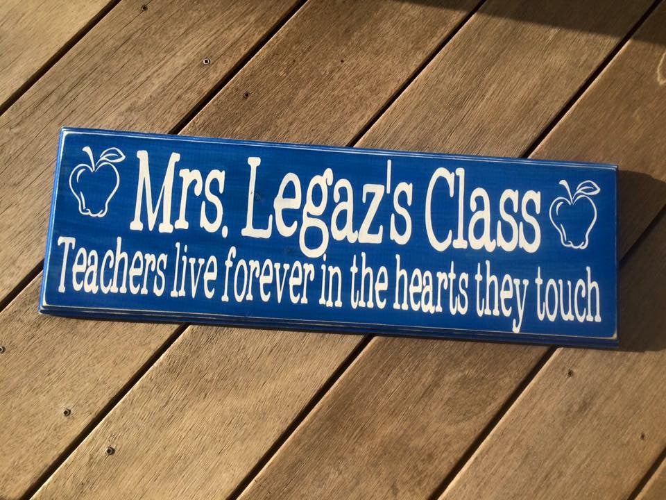 Teacher Name Wall Sign