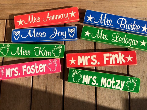 Teacher Name Desk Sign
