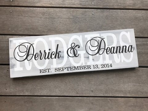 Family Name Overlay Sign
