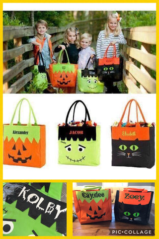 Character Halloween Trick or Treat Bags