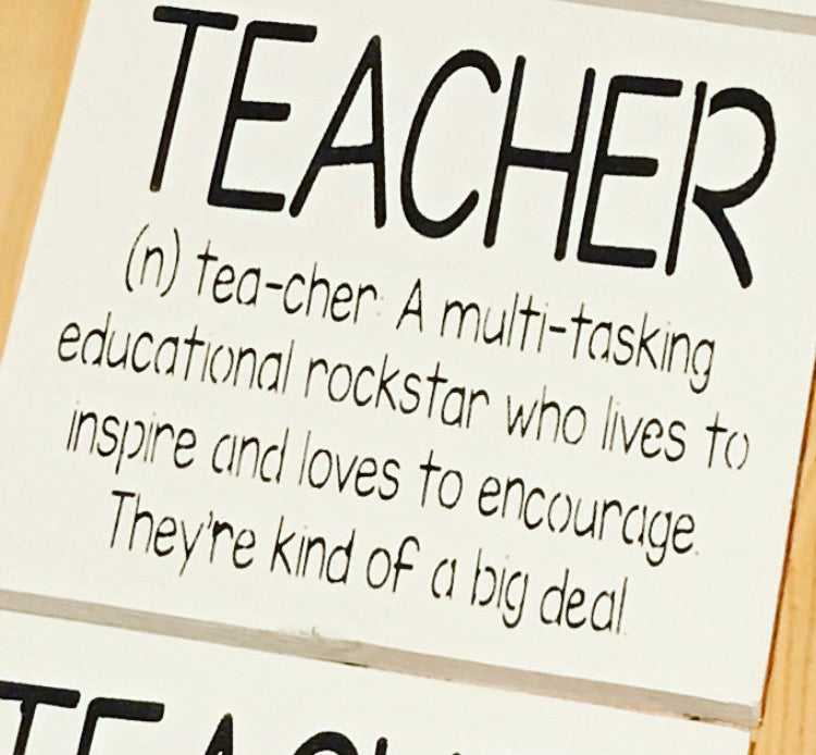 Teacher Definition Sign