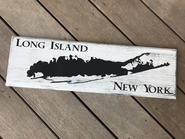 Long Island Map Sign