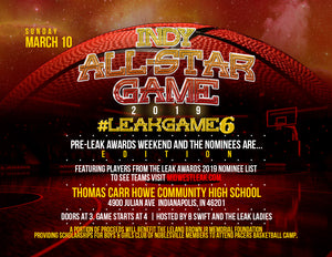 Indy All Star Game #LeakGame6 And the Nominees are