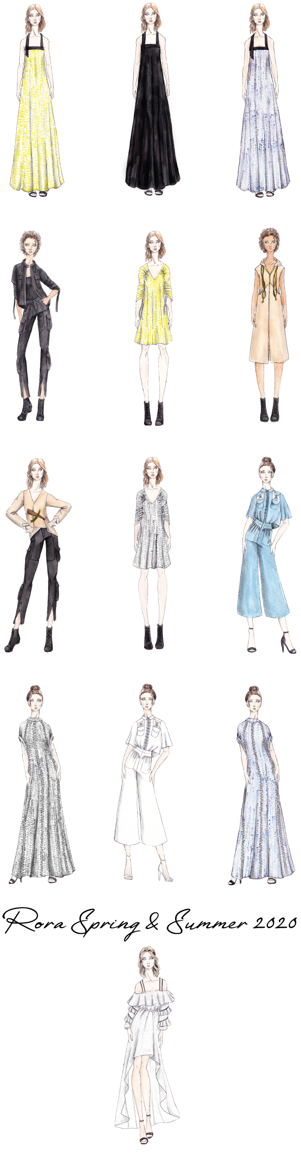 Spring Summer 2020 Sketches Rora Clothing