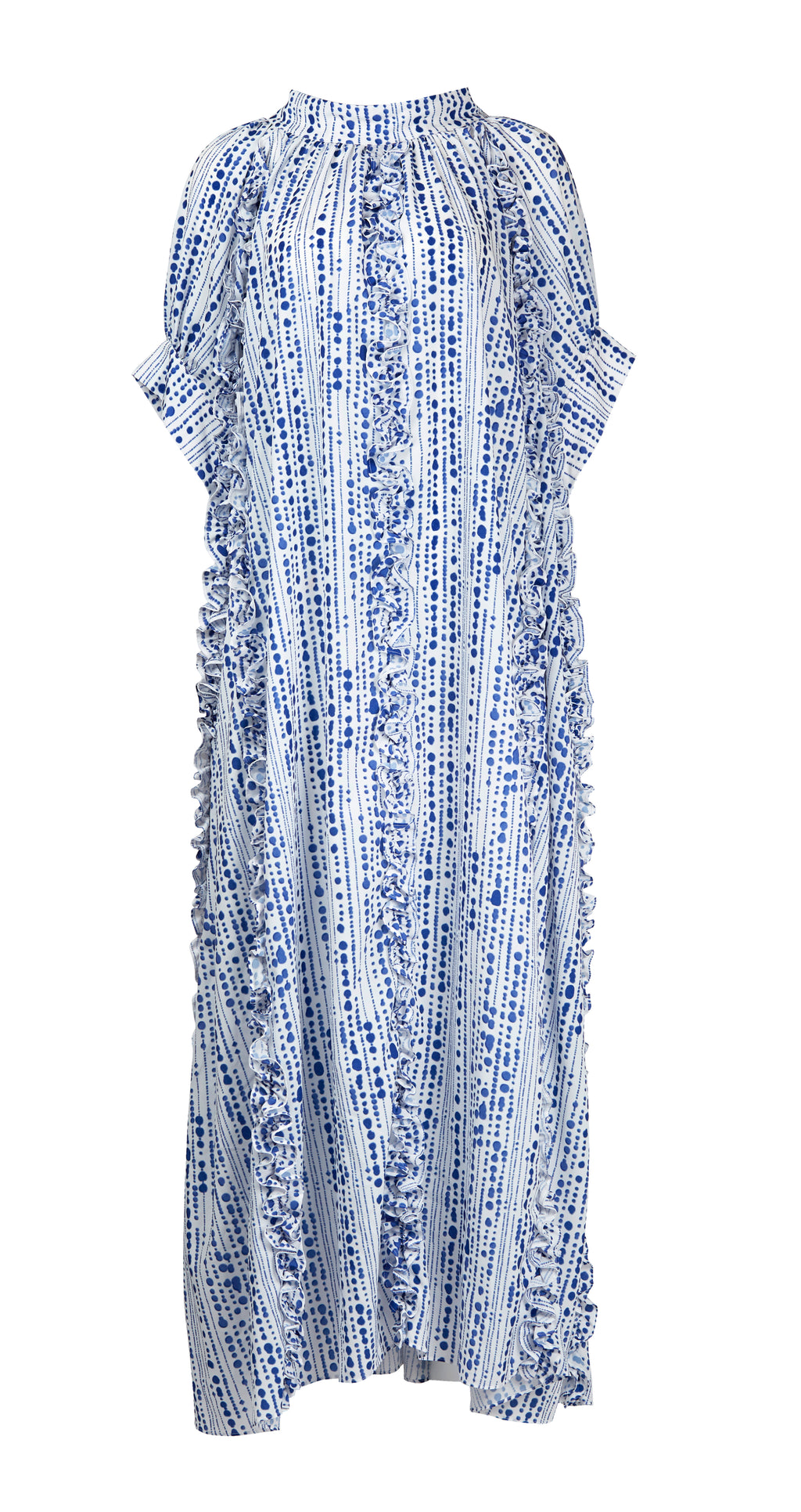 Hawa Dress (Blue Dot Print)