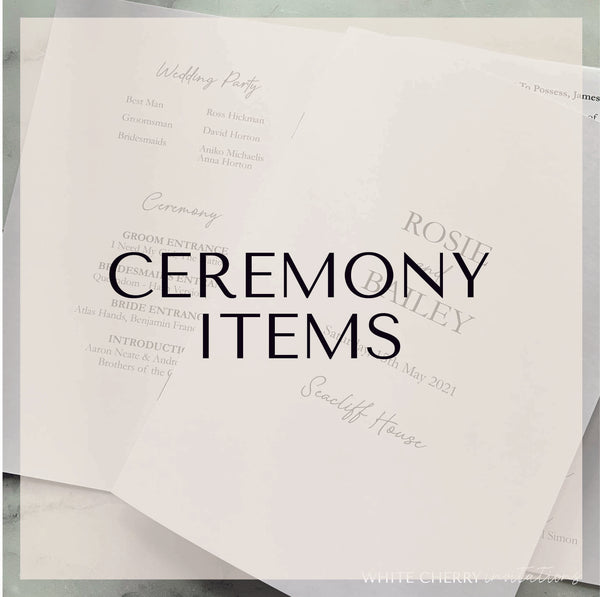 Ceremony Items