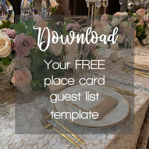 Download your free place card guest list template