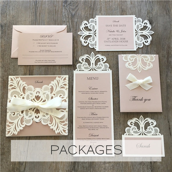 White Cherry Invitations Handmade Wedding Invitations in Sydney
