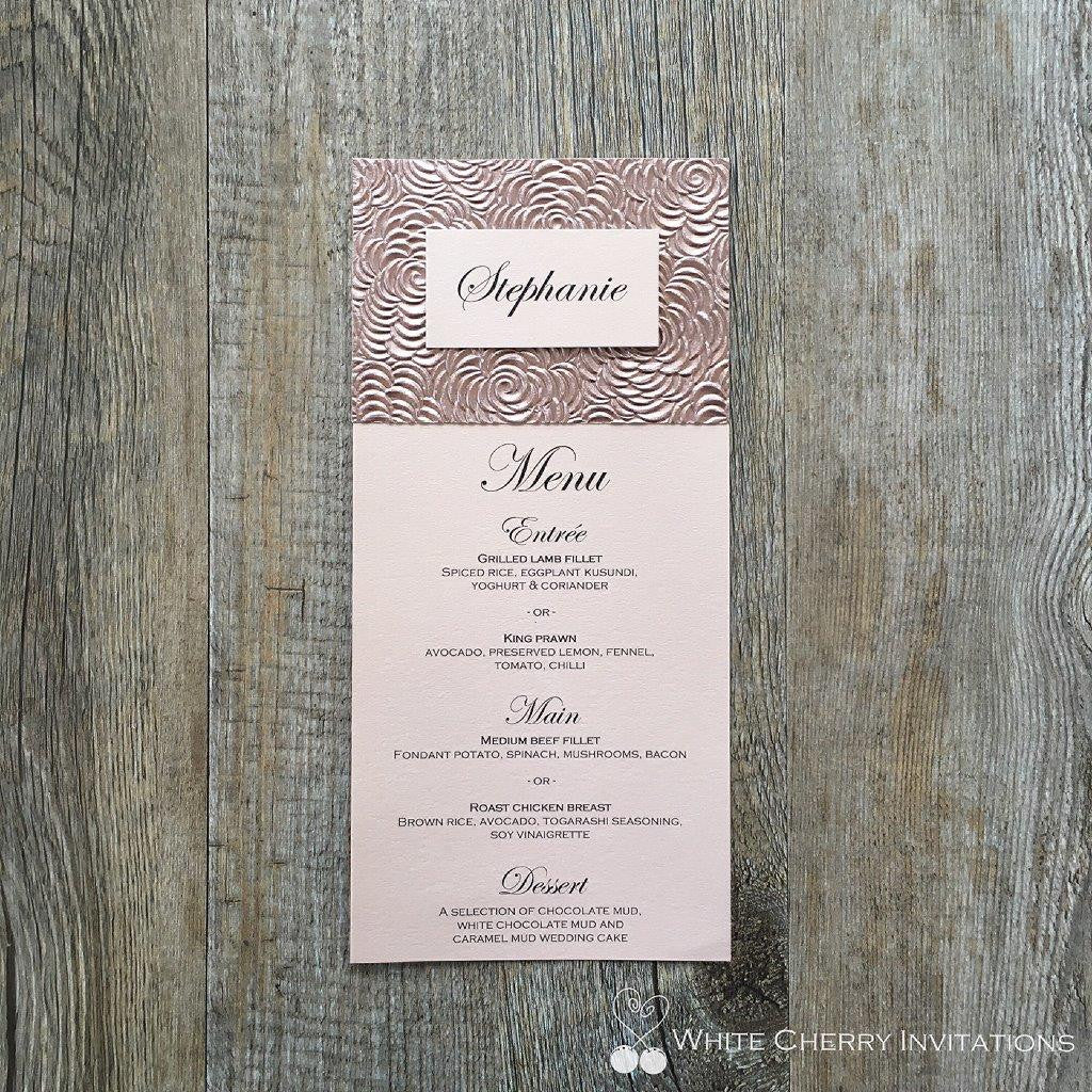 Flora & Eternity - FLAT MENU (Rose Gold Floret)