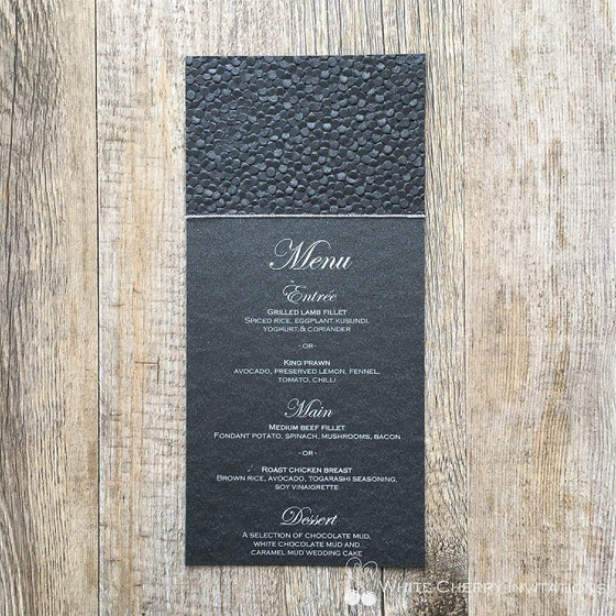 Crystal - FLAT MENU (Black Pebbles)