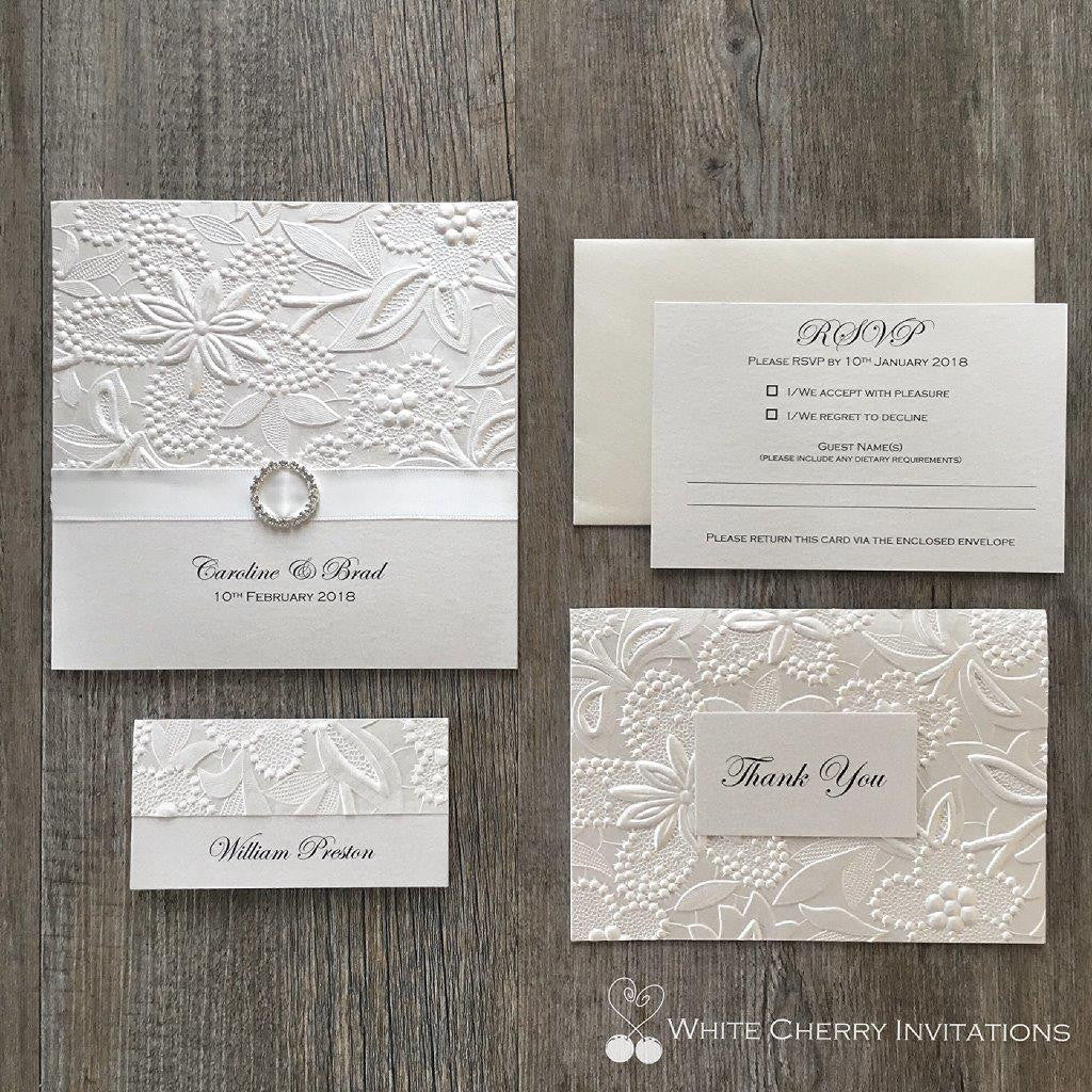 Save 15% - 20% OFF   Wedding Invitation Packages   White Cherry ...
