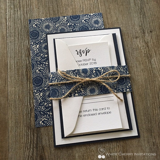 Blossom Blue INVITATION