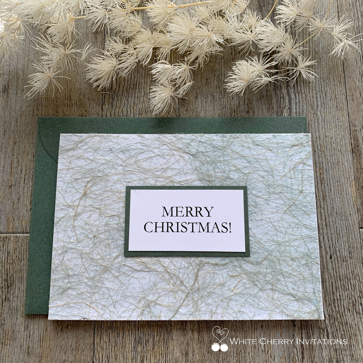 Christmas Card Personalised - Green