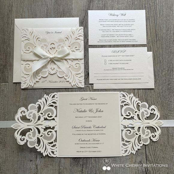 Cinderella Ivory - INVITATION
