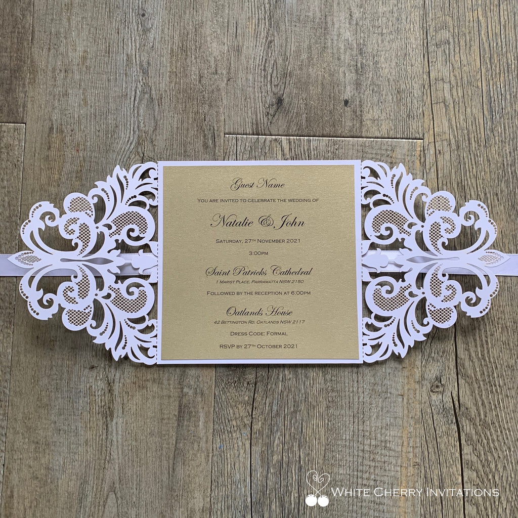 Cinderella Light Gold - INVITATION