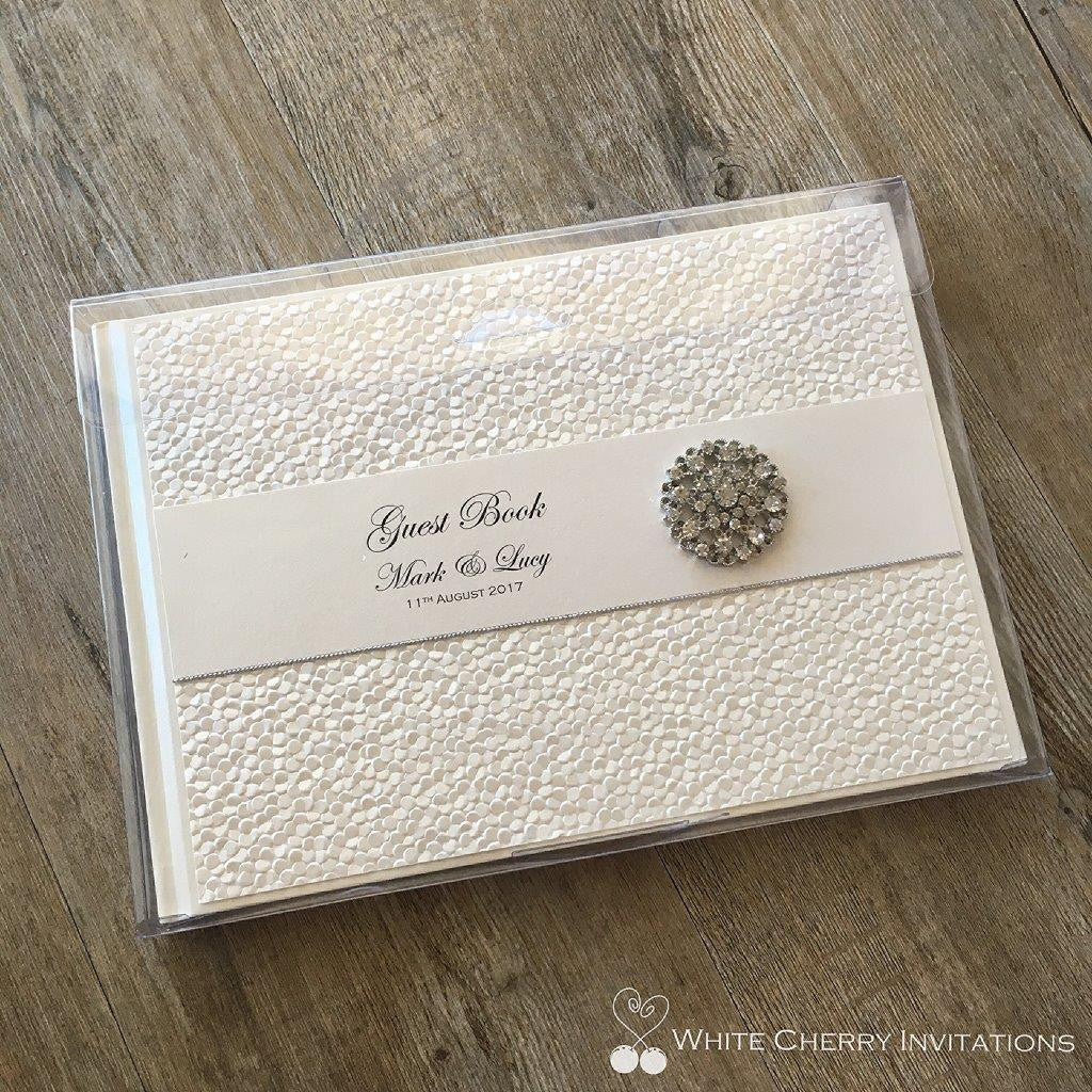 Crystal - GUEST BOOK (Ivory Pebbles)