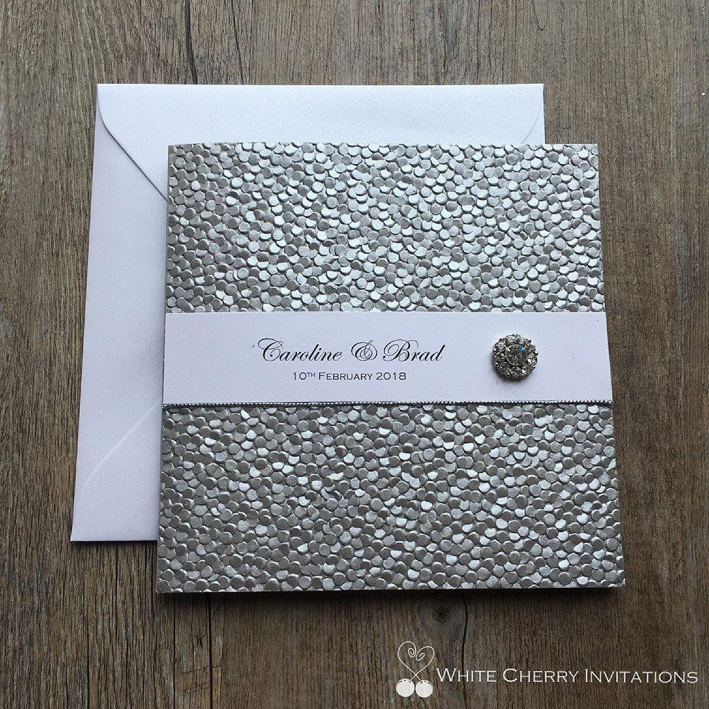 Crystal - INVITATION (Silver Pebbles)