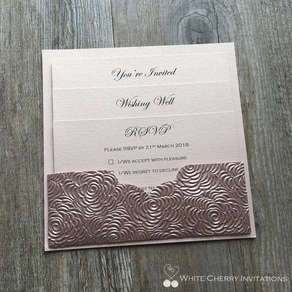 Eternity - INVITATION (Rose Gold Floret)