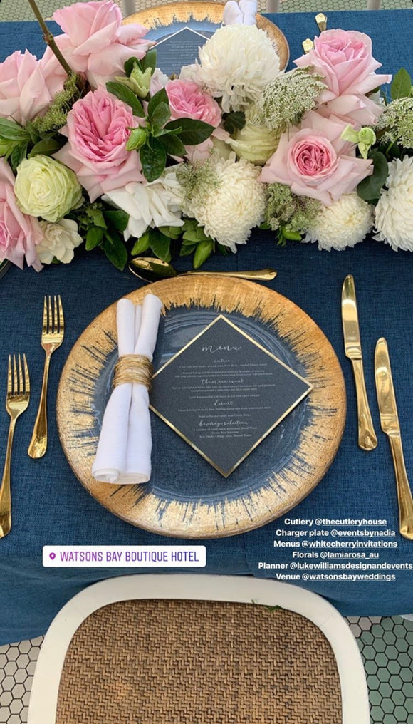 Diamond - GUEST MENU (Black & Gold)