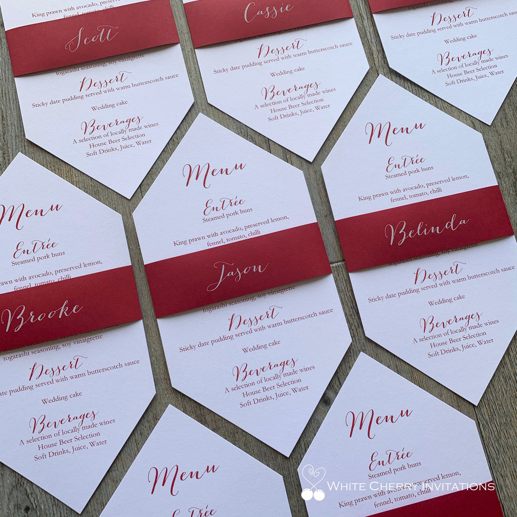 Love Struck - Menu Place Card