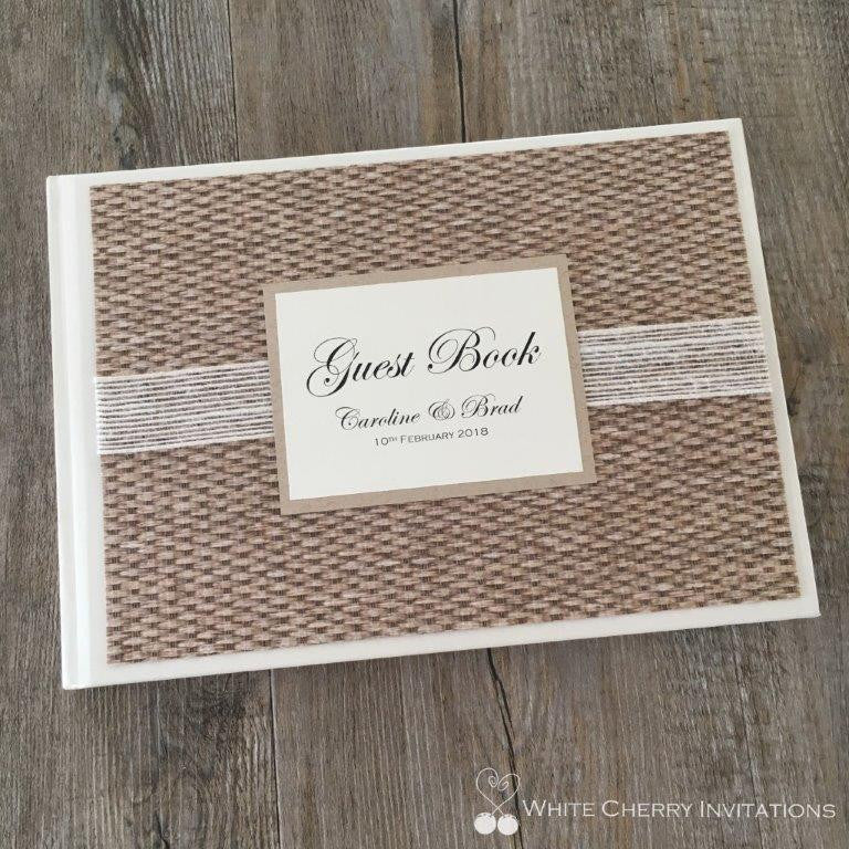 Light Kraft Wedding Guest Book - White Cherry Invitations