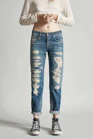 c5bfec4edbba57 R13 Relaxed Skinny Shredded Jeans Size 27 - LIKE NEW – Selling Your Style