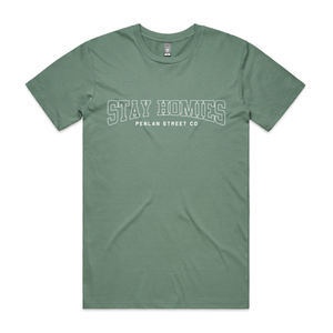 Open image in slideshow, STAY HOMIES - SAGE T-SHIRT