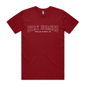 Open image in slideshow, STAY HOMIES - CARDINAL T-SHIRT