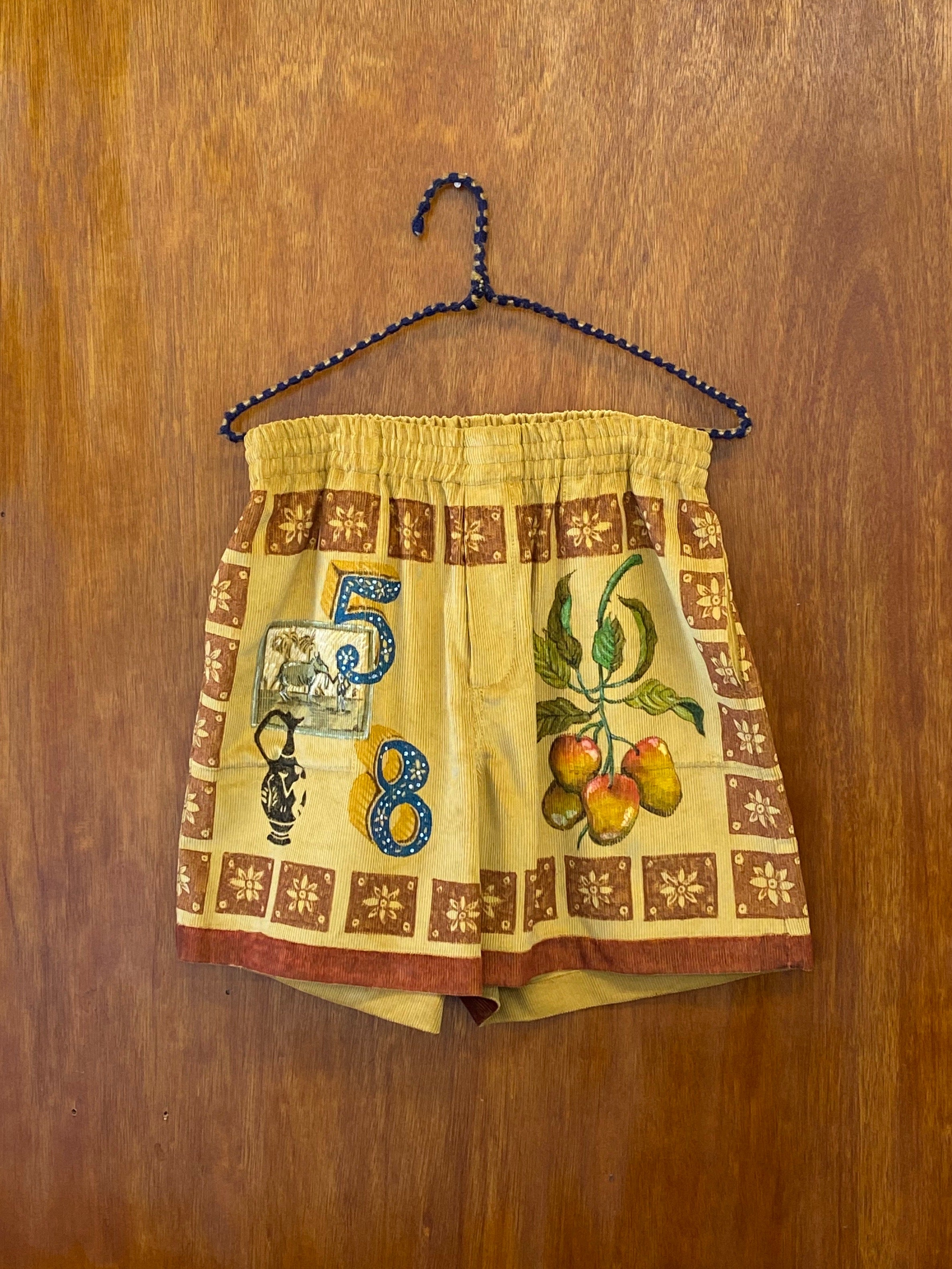 Senior Cord Fall Mosaic Rugby Shorts