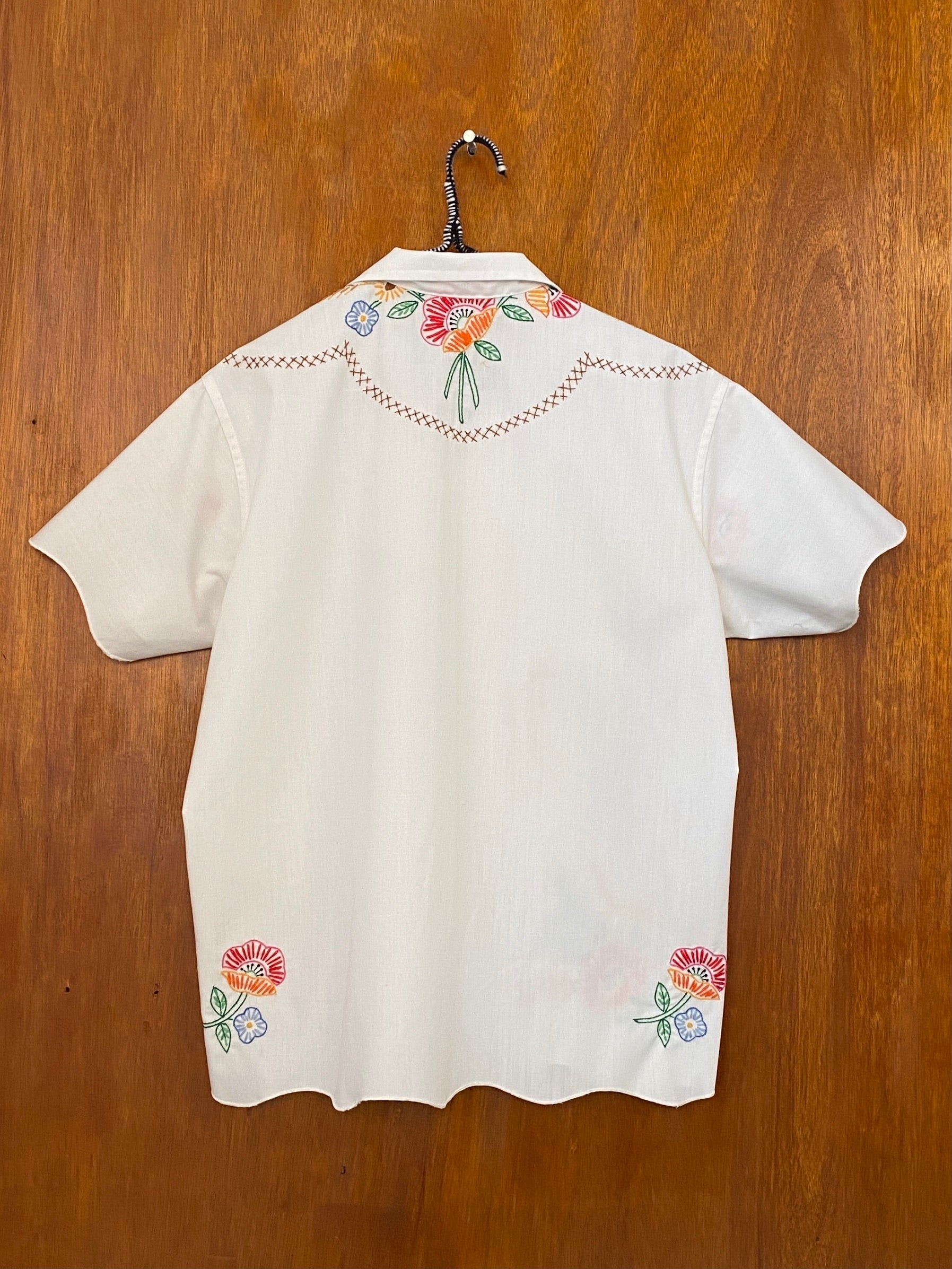 Wheat Bouquet Embroidery Shirt - S/M