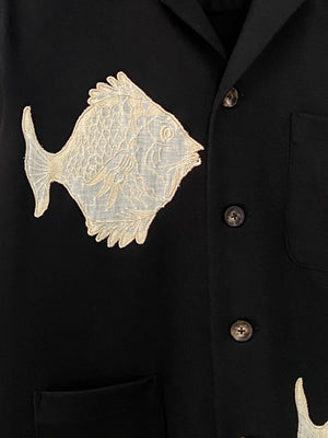 Fish Patch Shirt Jacket