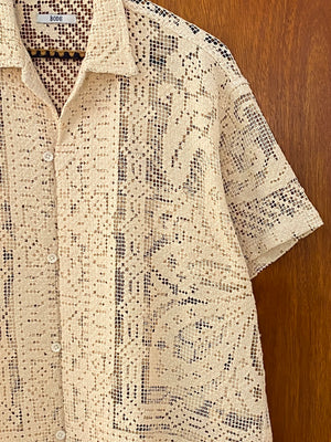 Cloud Knit Lace Shirt - S/M