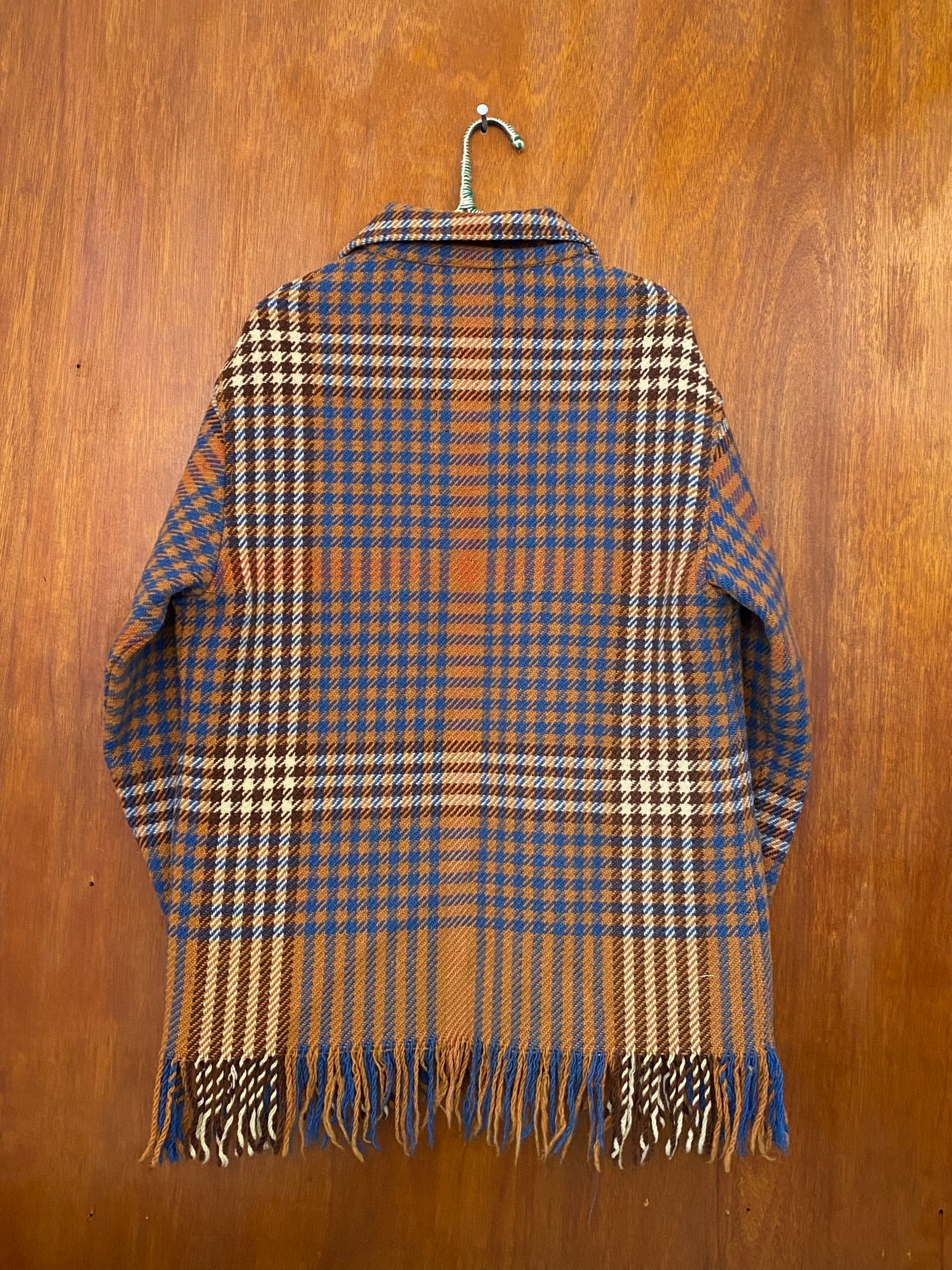 London Tan Houndstooth Jacket - M/L