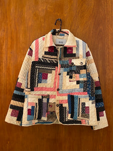 Sweetheart Log Cabin Quilt Jacket