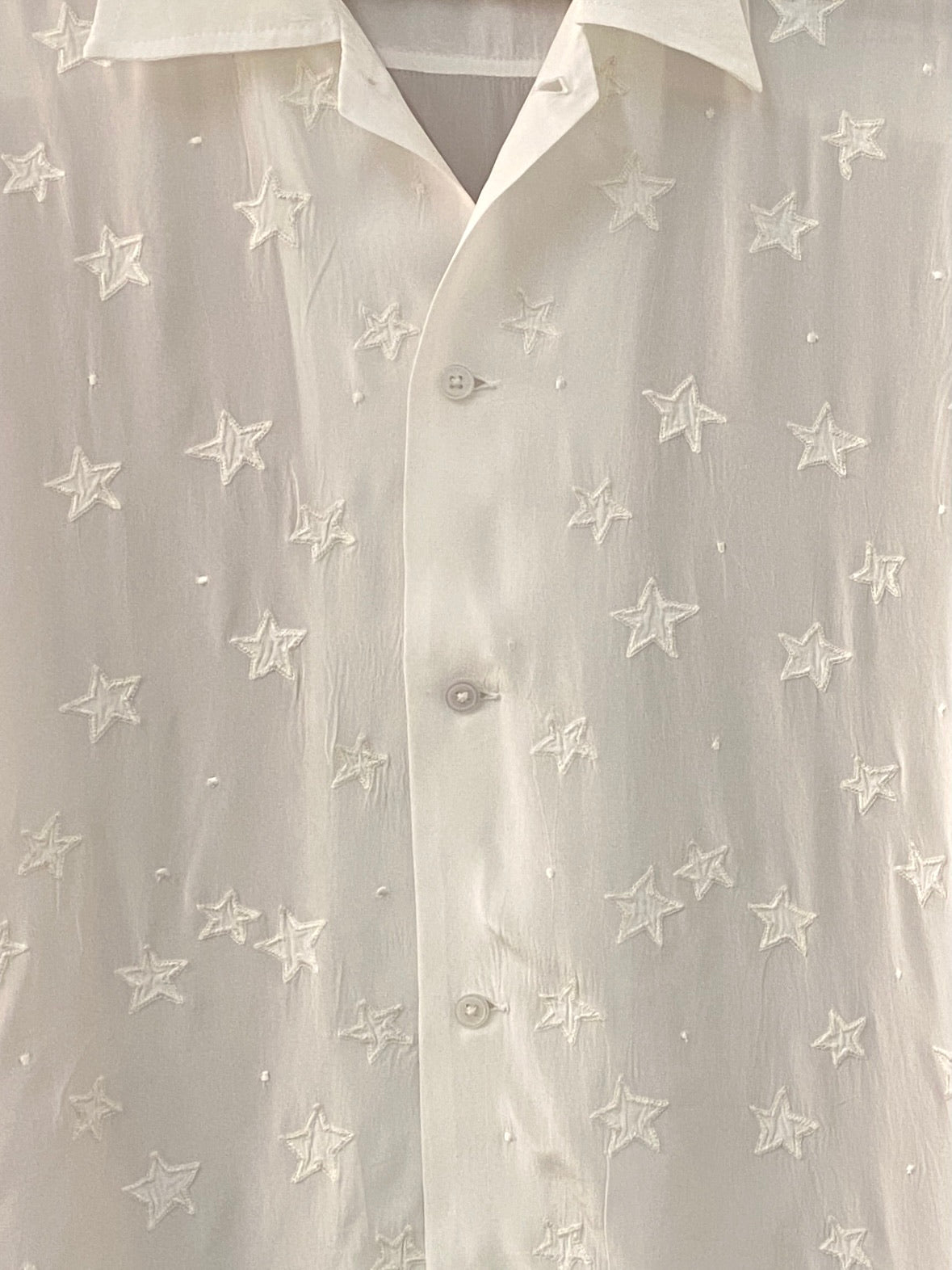 White Star Appliqué Bowling Shirt