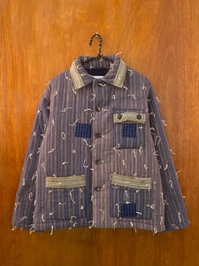 Midnight Stripe Quilt Jacket - M/L