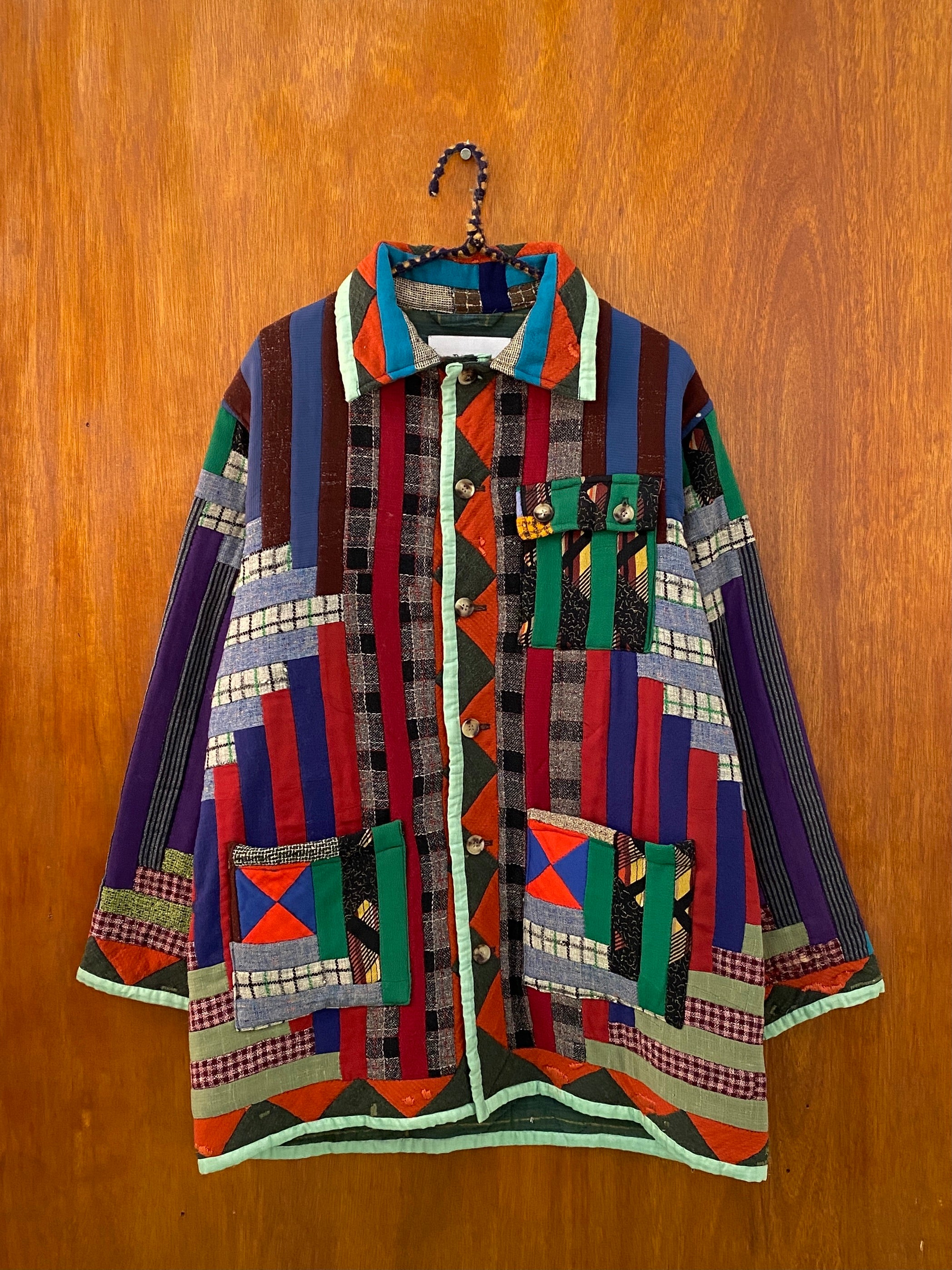 Sky Donegal Elongated Quilt Jacket - S/M