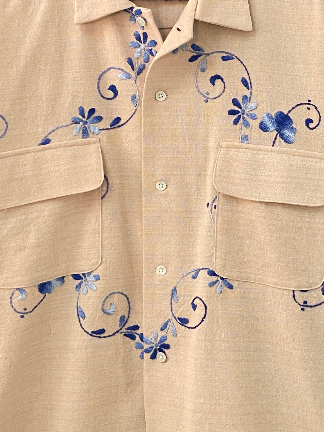 Blue Poppy Shirt - M/L