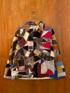 Velour Crazy Quilt Jacket - L/XL