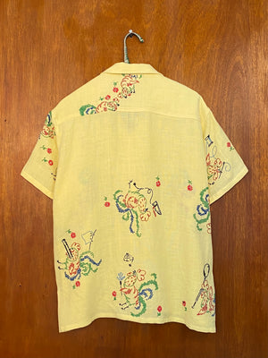 Rooster Cross-Stitch Shirt - M/L