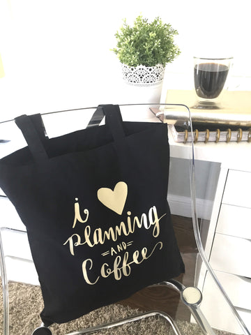 I (heart) Planning and Coffee | Tote Bag