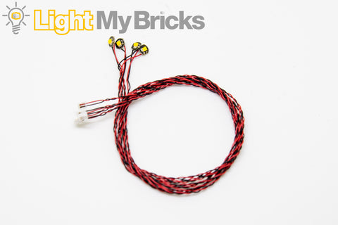 Bit Lights Flashing White 30cm - (4 pack)