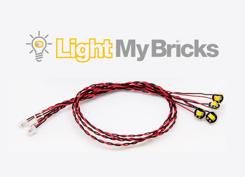 Bit Lights Flashing White 15cm - (4 pack)