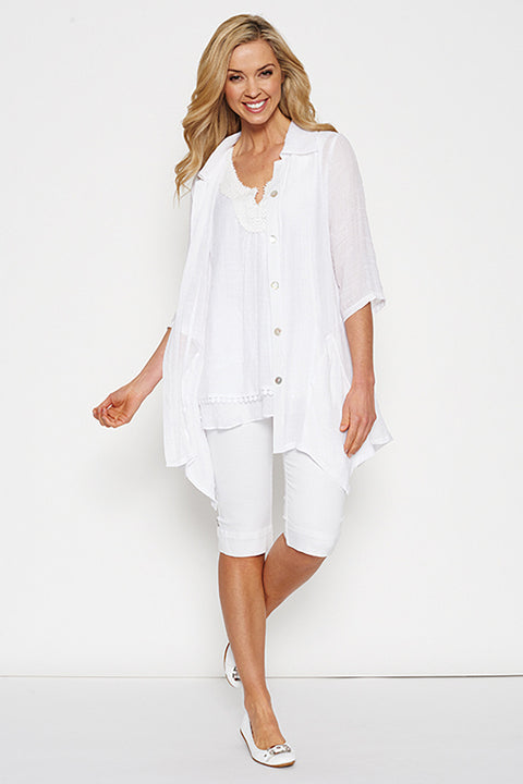 Threads White Sheer Top