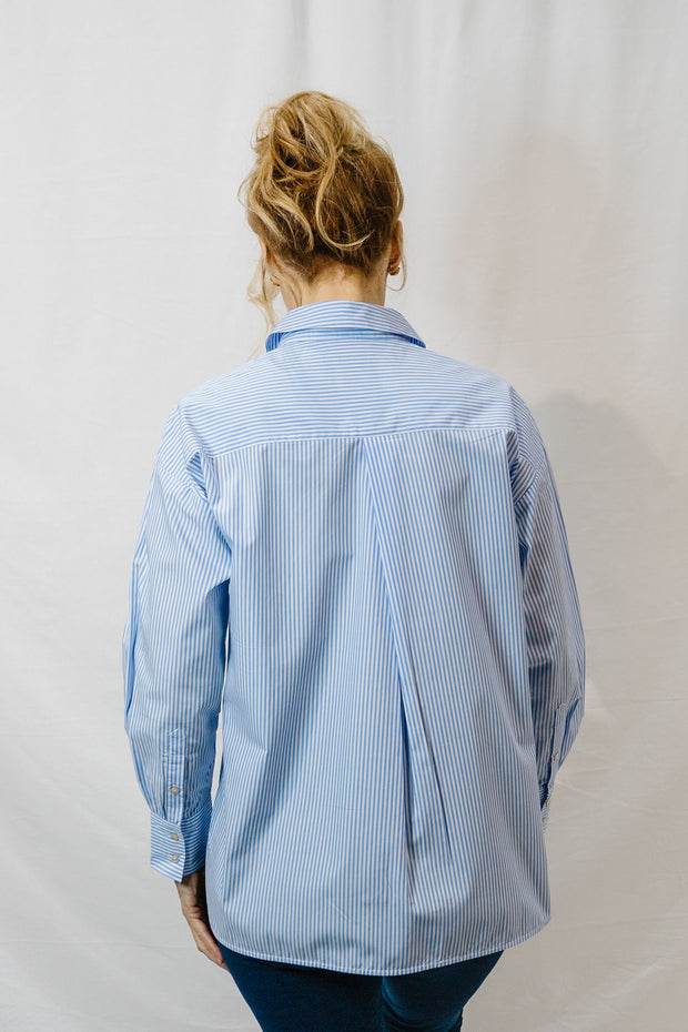Stripe  Shirt - Blue White