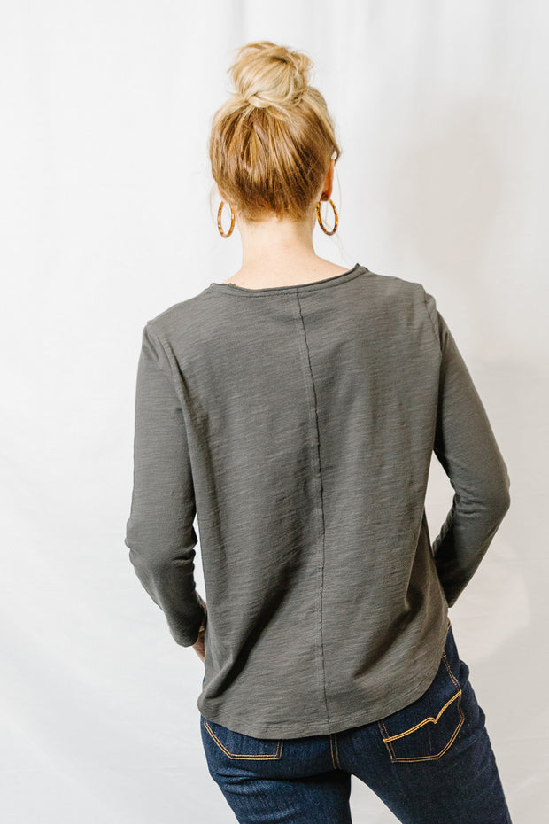 Long Sleeve Tee - Bark